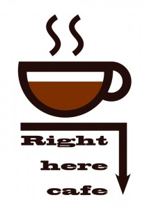 right here cafe logo